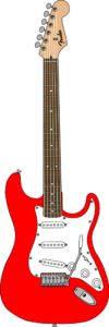 Guitare Fender Stratocaster. rouge.