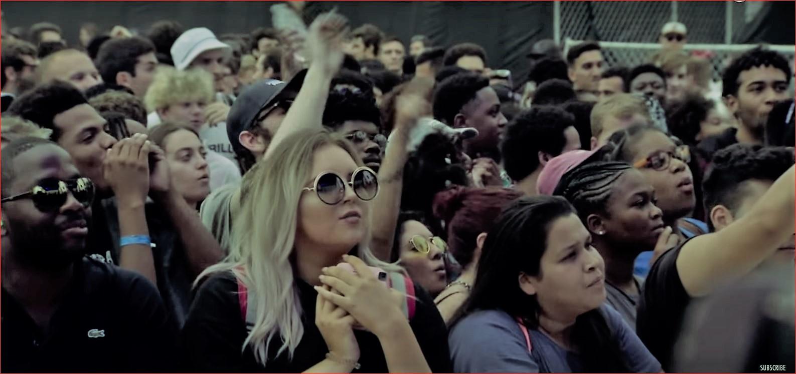 Le public de Smino au Pitchfork Festival Chicago 2018..
