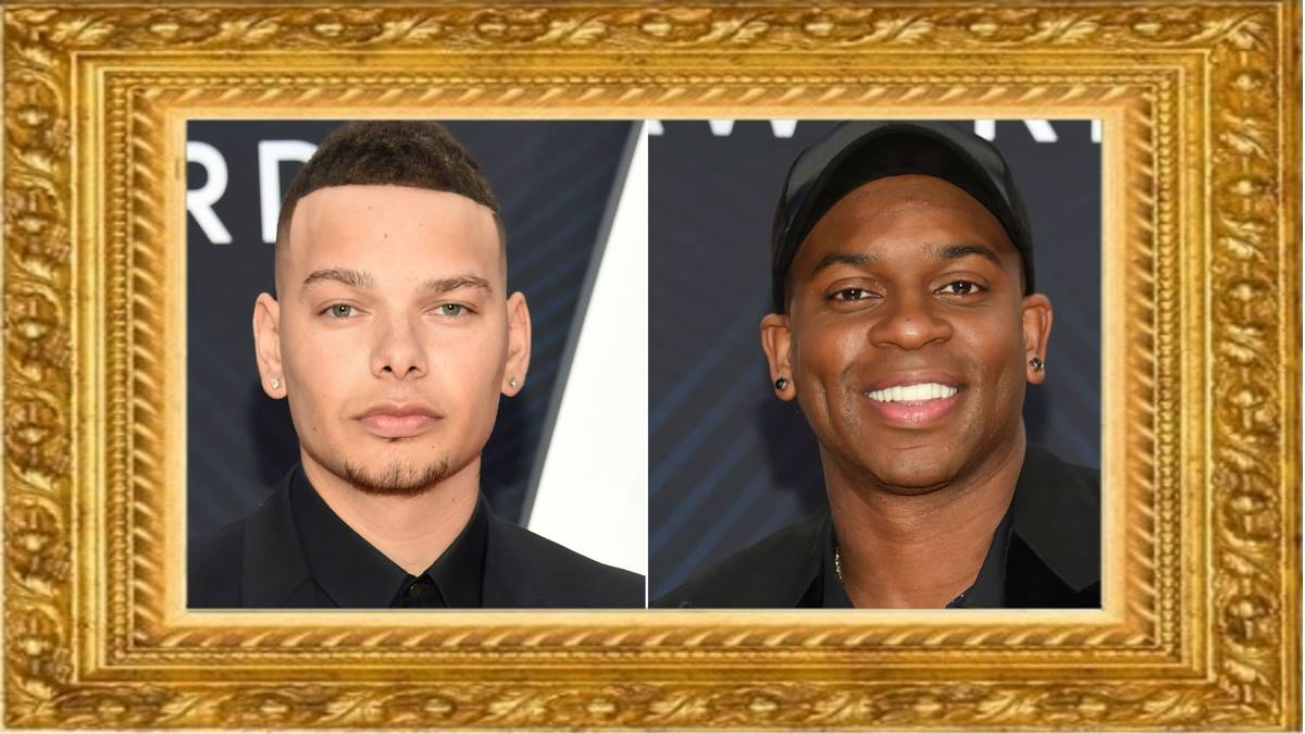 Les musiciens country Kane Brown (à gauche) et Jimmie Allen