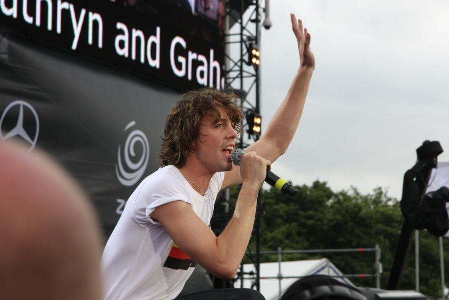 Johnny Borrell, leader et chanteur de Razorlight