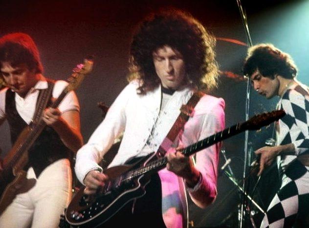 Queen en concert, en 1977