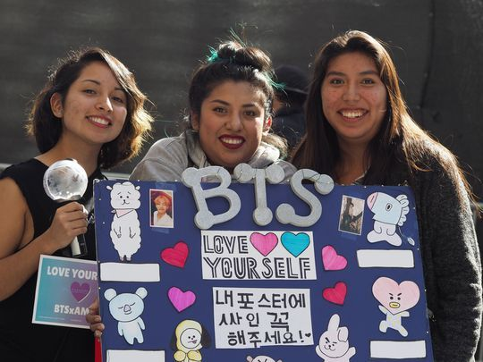 Fans de BTS à Los Angeles, USA, en 2018