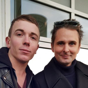 Matthew Bellamy, leader de Muse (à droite), avec Tony Moga, le guitariste d'After Ivory, en décembre 2018.