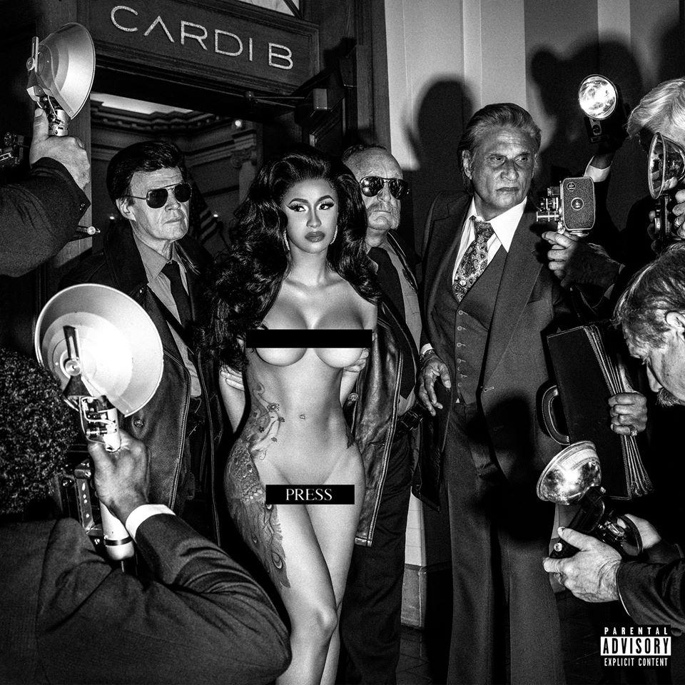 Cardi B, pour la sortie de son titre Press (2019)