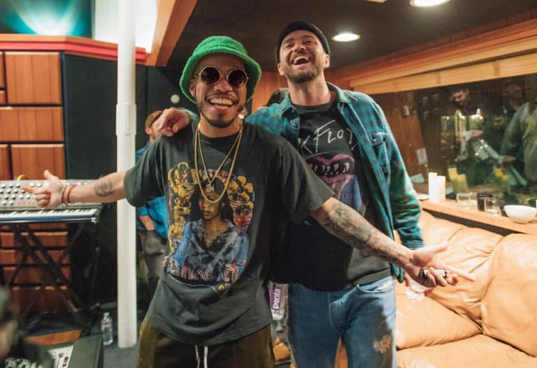 Anderson .Paak (à gauche) et Justin Timberlake