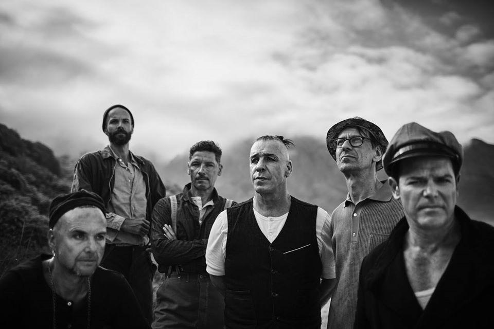 Les six membres actuels de Rammstein