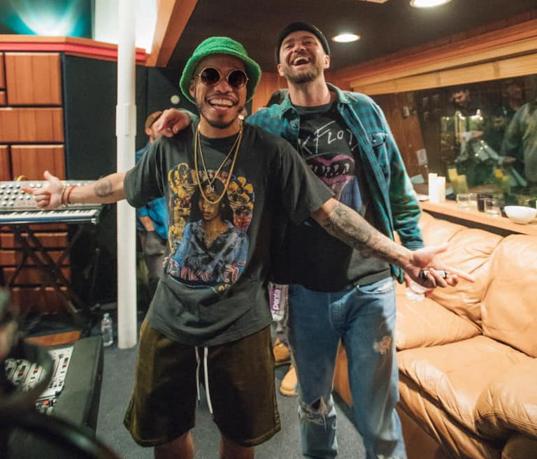 Ande(son .Paak (à gauche) et Justin Timberlake